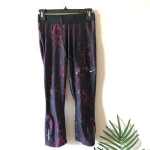 NiKE Dri-Fit Multicolored Crop Leggings Size S